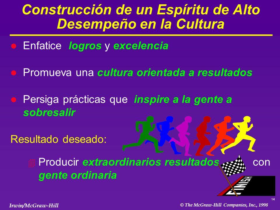 Construcción de un Espíritu de Alto Desempeño en la Cultura