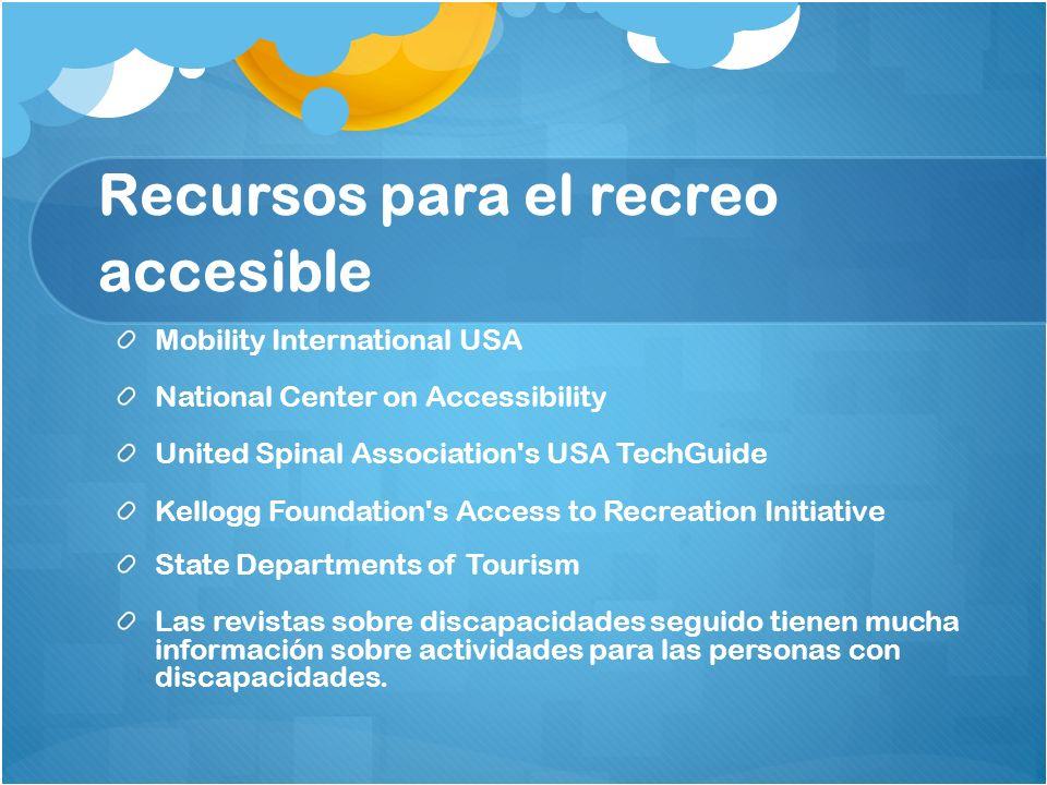 Recursos para el recreo accesible