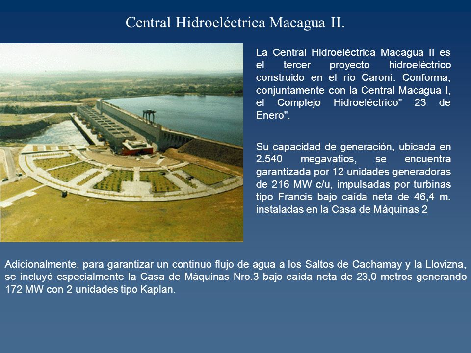 Central Hidroeléctrica Macagua II.