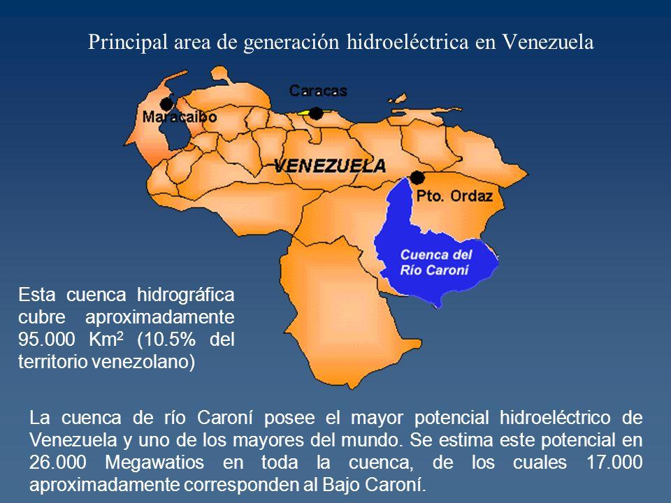 Principal area de generación hidroeléctrica en Venezuela