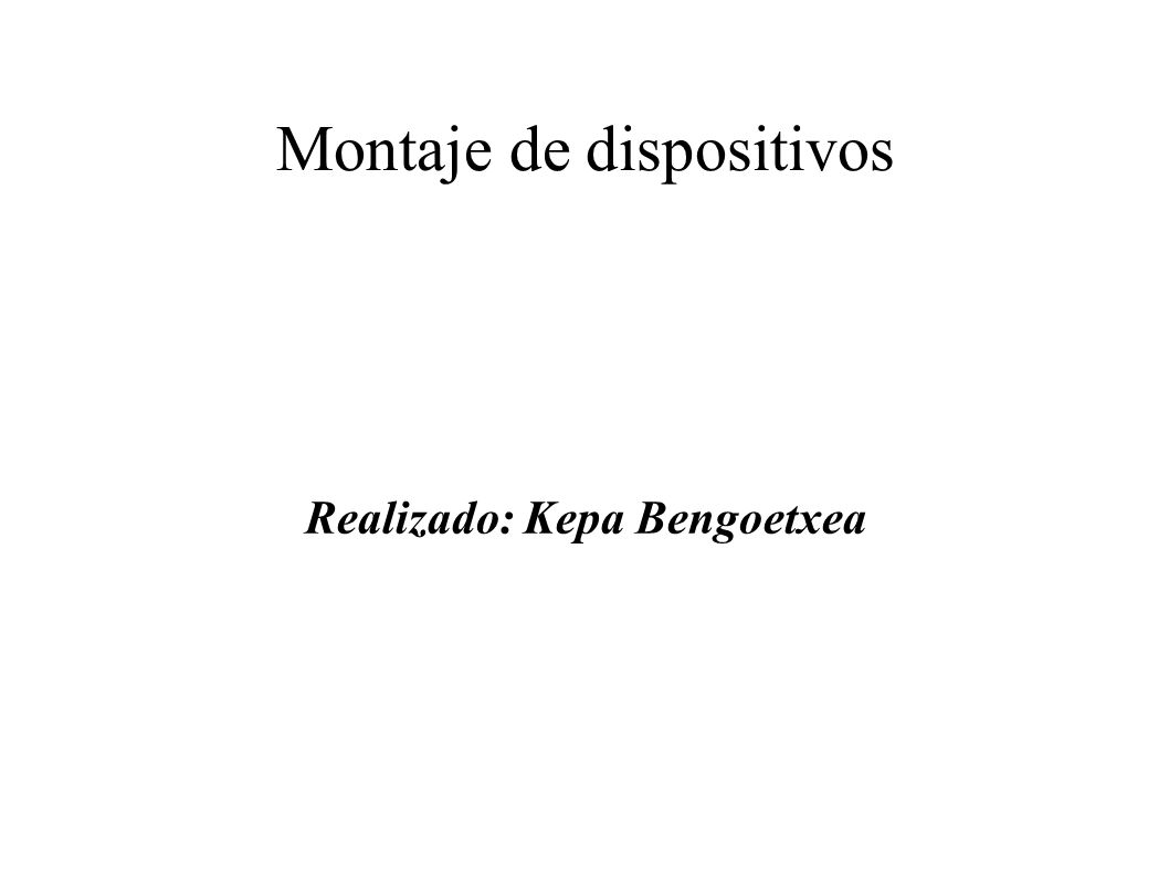 Montaje‏ de dispositivos