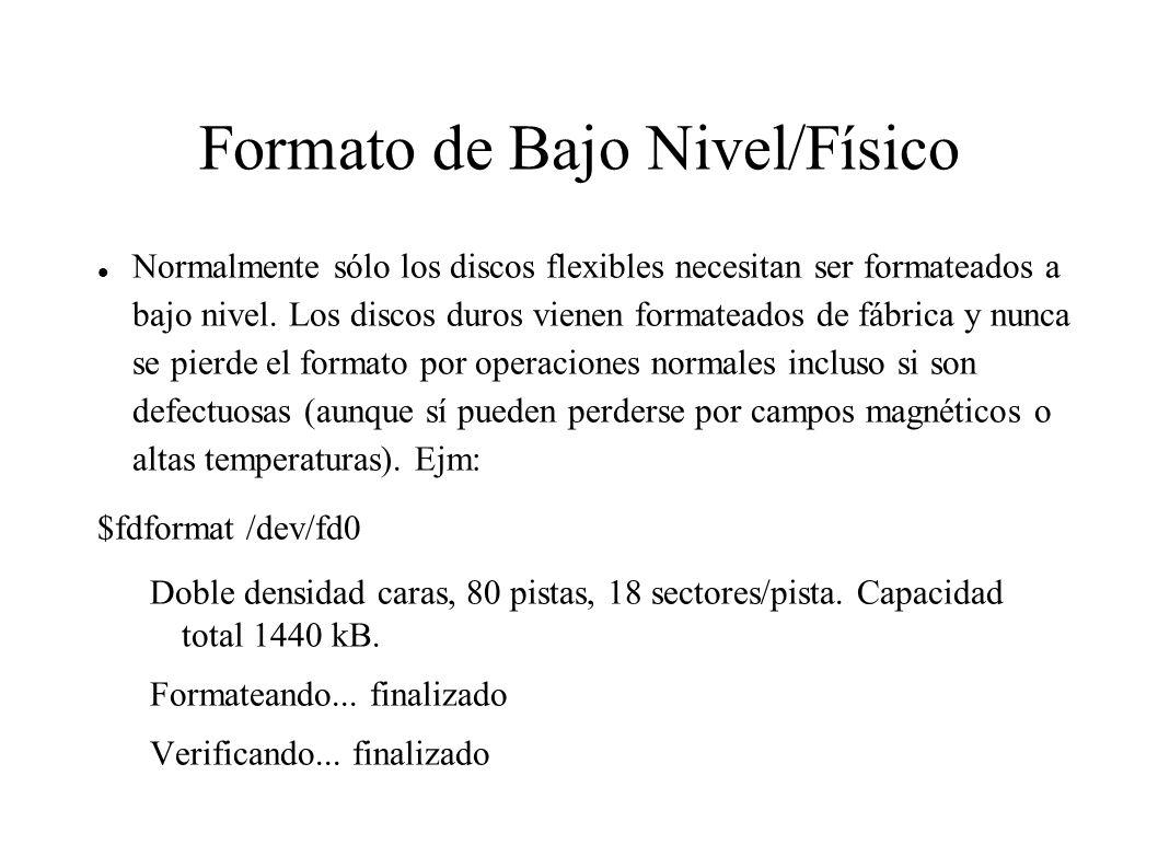Formato de Bajo Nivel/Físico