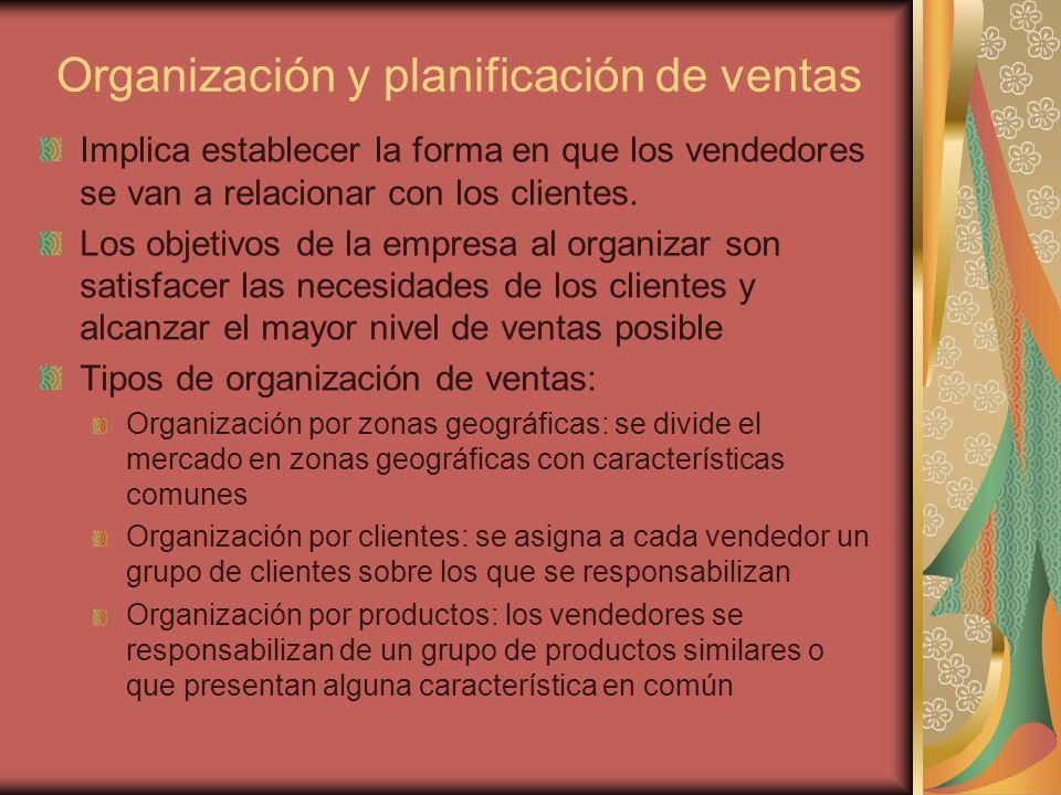 Organización y planificación de ventas