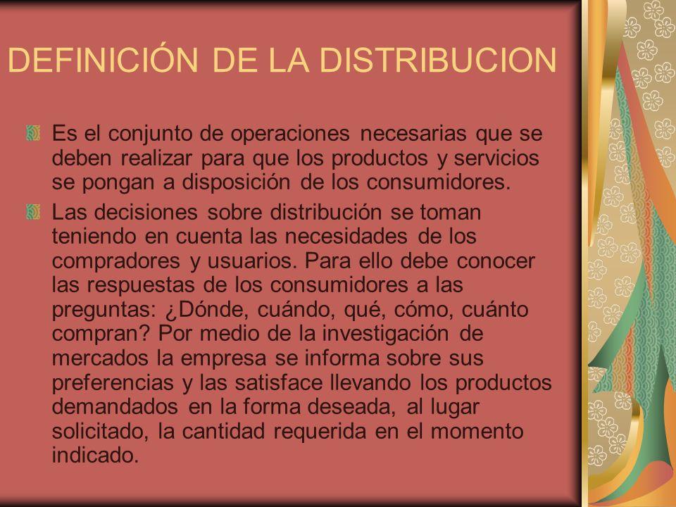 DEFINICIÓN DE LA DISTRIBUCION