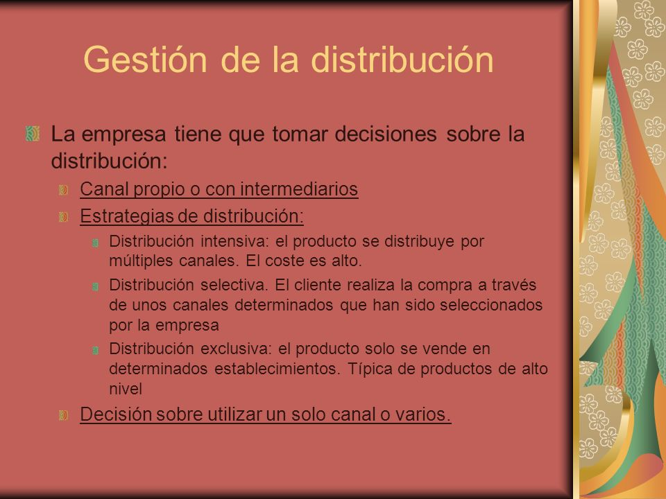 Gestión de la distribución