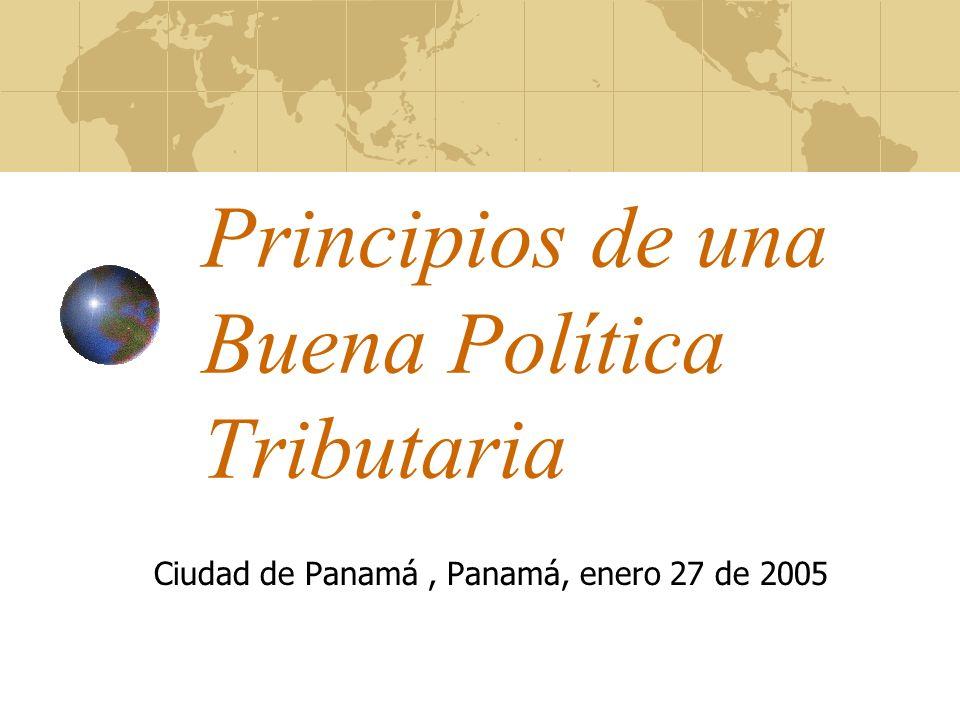 Principios de una Buena Política Tributaria