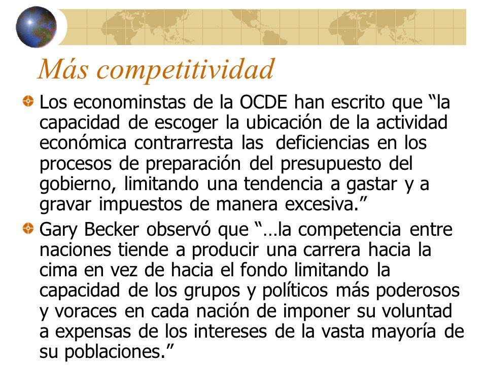Más competitividad