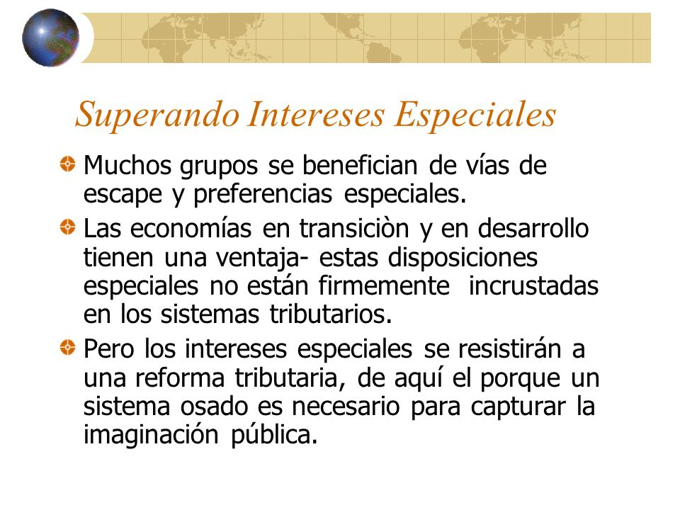 Superando Intereses Especiales
