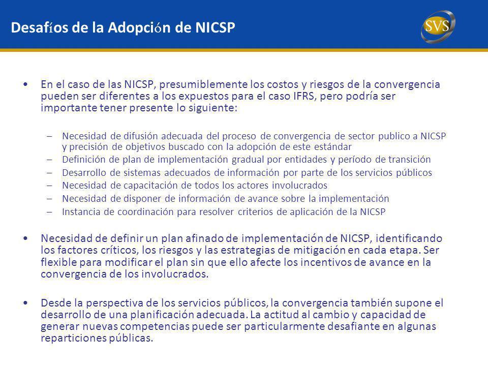 Desafíos de la Adopción de NICSP
