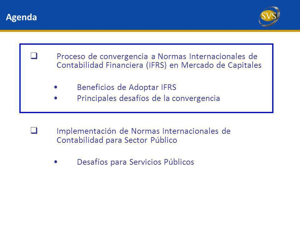 Agenda Proceso de convergencia a Normas Internacionales de Contabilidad Financiera (IFRS) en Mercado de Capitales.