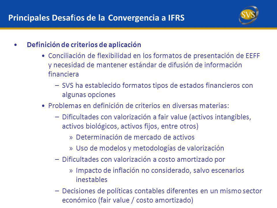 Principales Desafíos de la Convergencia a IFRS