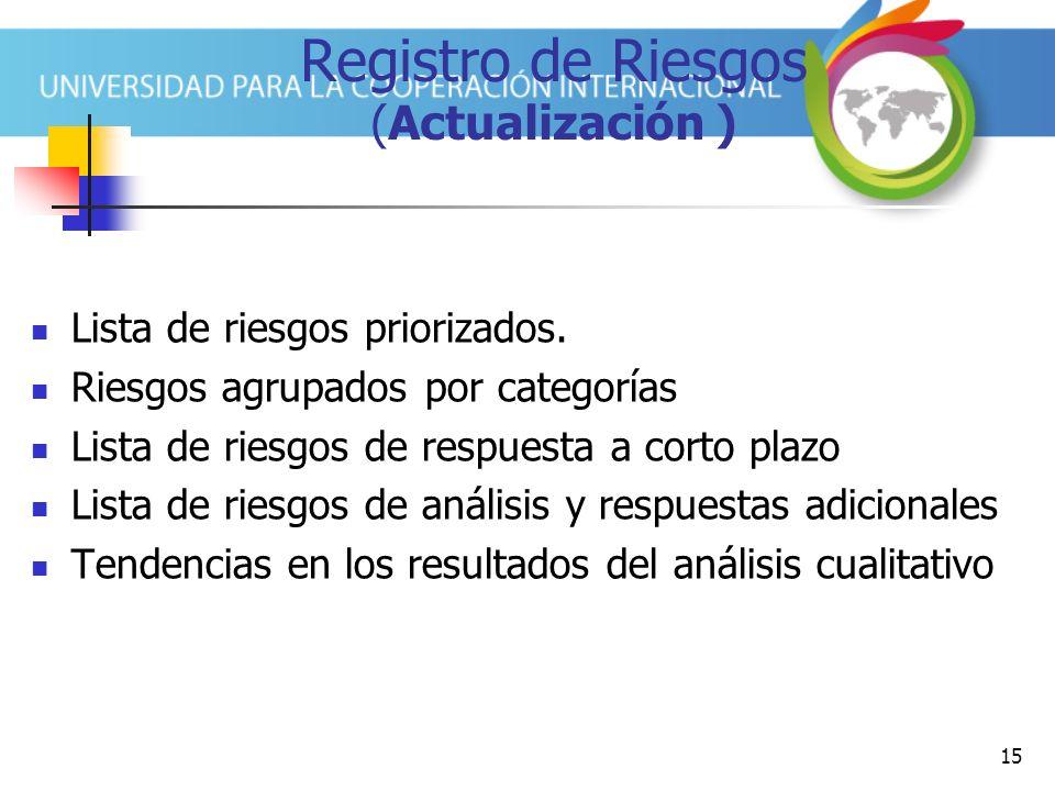 Registro de Riesgos (Actualización )