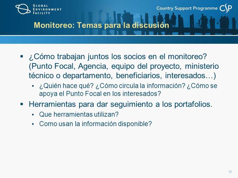 Monitoreo: Temas para la discusión
