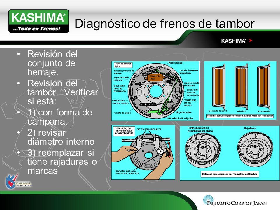 Diagnóstico de frenos de tambor