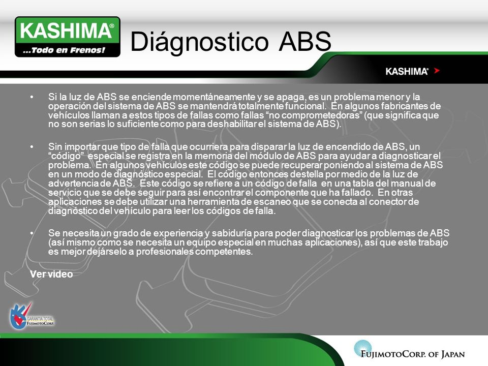 Diágnostico ABS