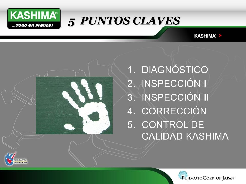 5 PUNTOS CLAVES DIAGNÓSTICO INSPECCIÓN I INSPECCIÓN II CORRECCIÓN