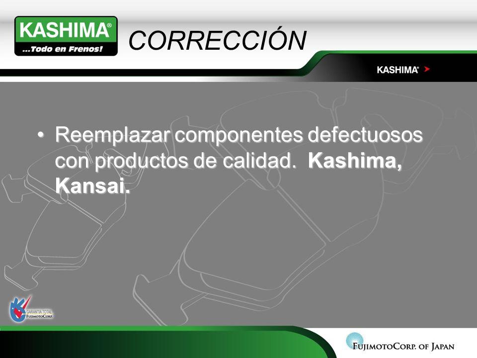 CORRECCIÓN Reemplazar componentes defectuosos con productos de calidad. Kashima, Kansai.