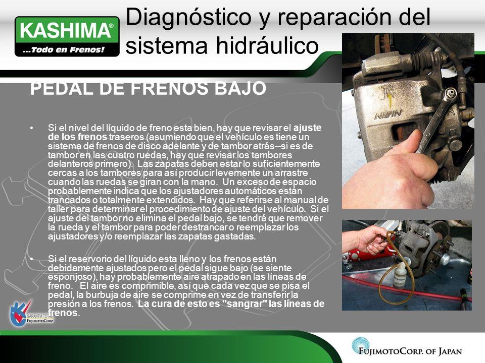 Diagnóstico y reparación del sistema hidráulico
