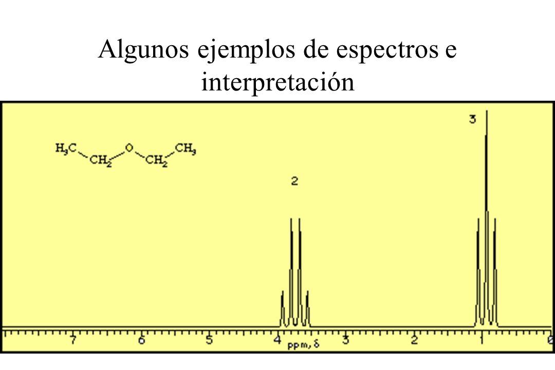 Algunos ejemplos de espectros e interpretación