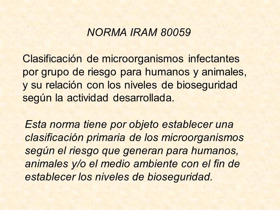 NORMA IRAM 80059