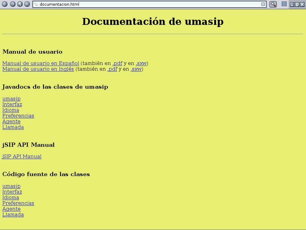 Manual, ayudas y documentación