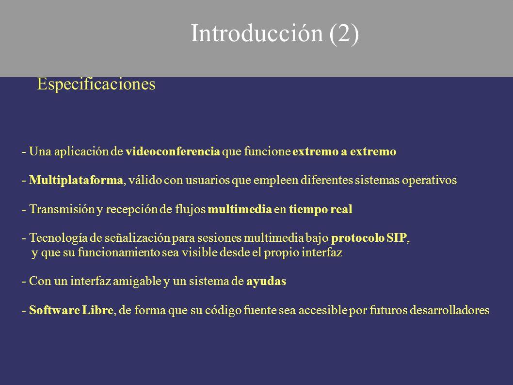 Introducción (2) Especificaciones