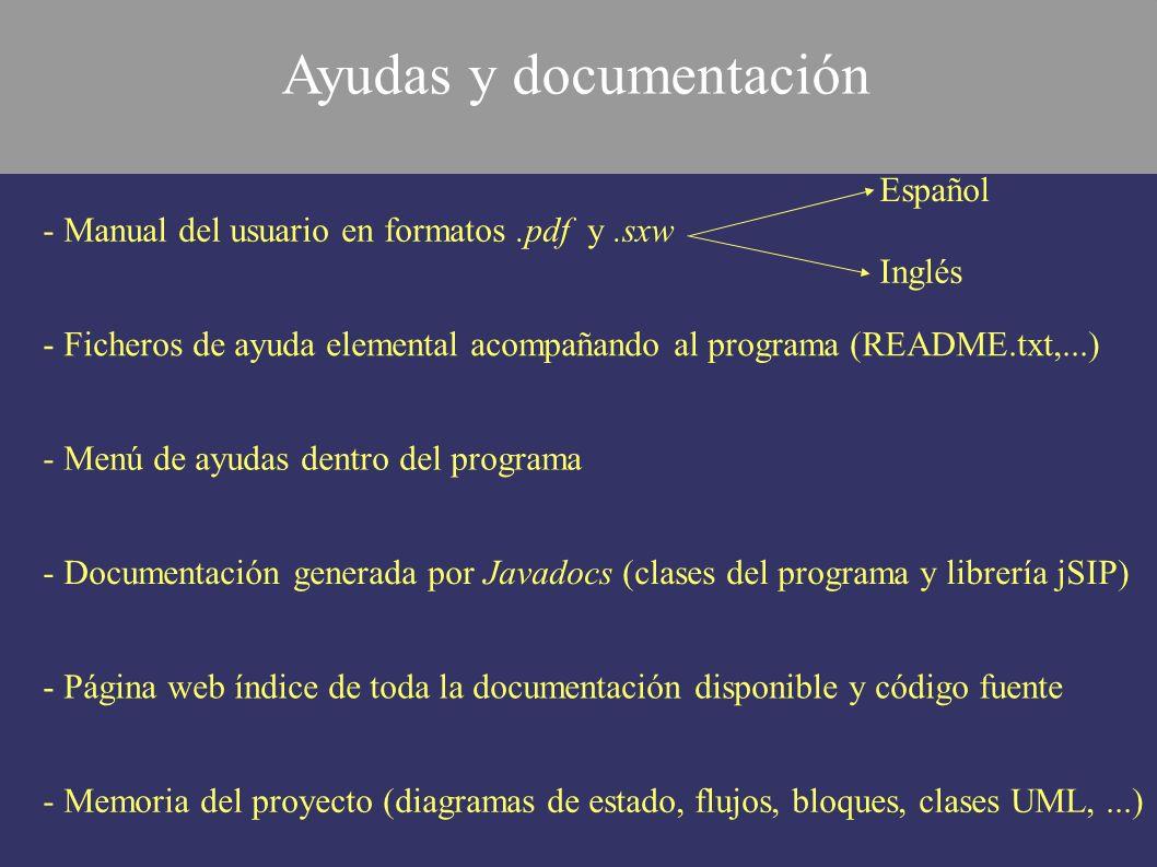 Ayudas y documentación