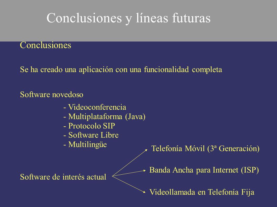 Conclusiones y líneas futuras