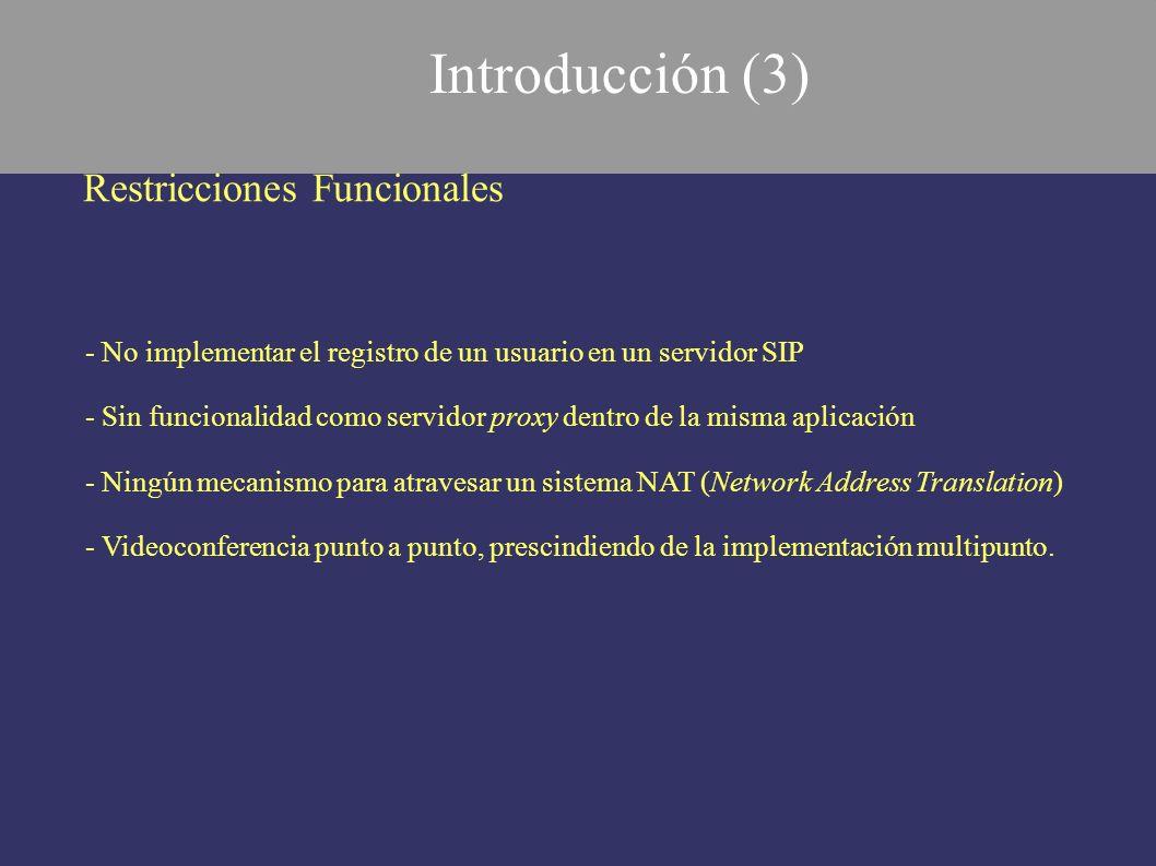 Introducción (3) Restricciones Funcionales