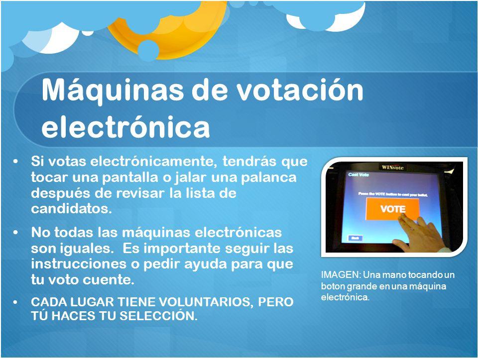 Máquinas de votación electrónica