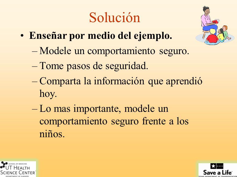 Solución Enseñar por medio del ejemplo.