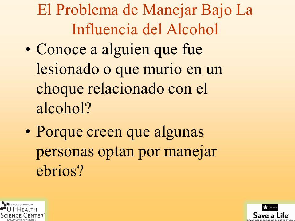 El Problema de Manejar Bajo La Influencia del Alcohol