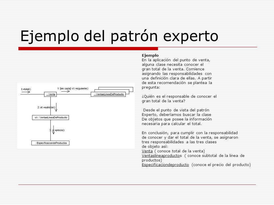 Ejemplo del patrón experto