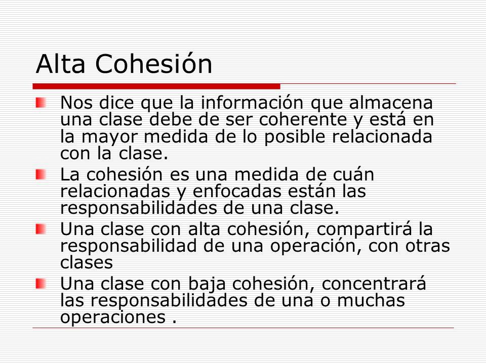 Alta Cohesión