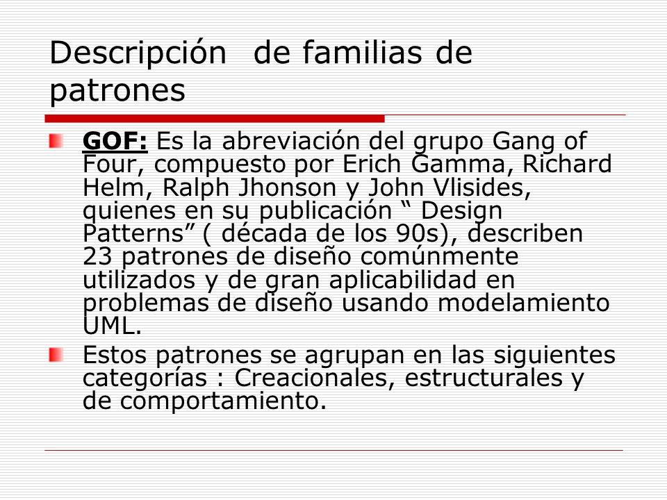 Descripción de familias de patrones