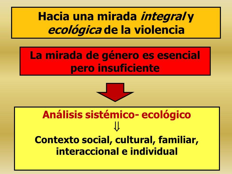 Hacia una mirada integral y ecológica de la violencia
