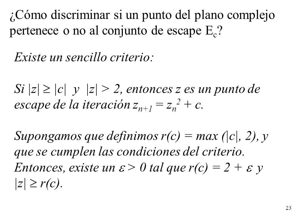 ¿Cómo discriminar si un punto del plano complejo