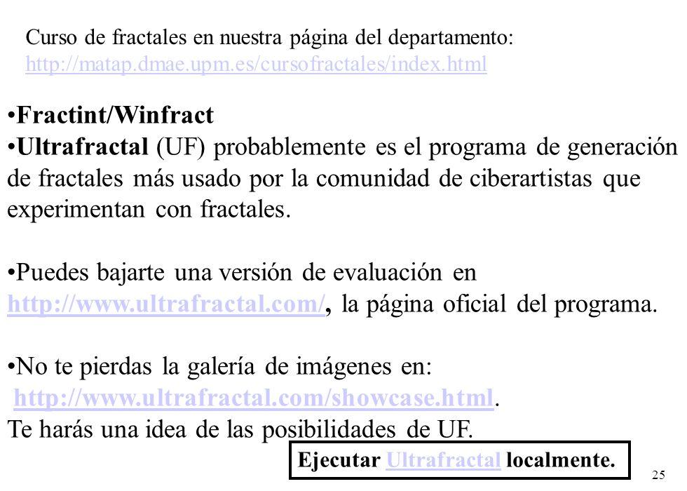 Ultrafractal (UF) probablemente es el programa de generación