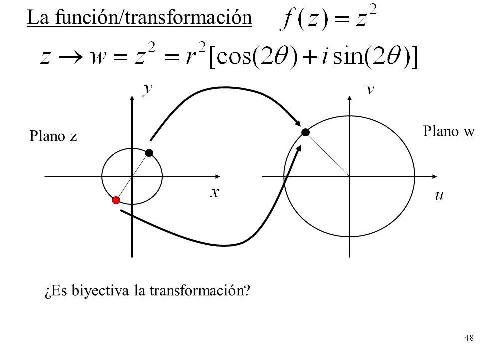 La función/transformación