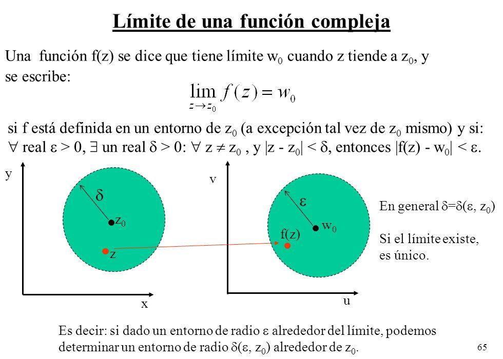 Límite de una función compleja