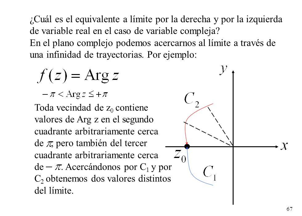 ¿Cuál es el equivalente a límite por la derecha y por la izquierda