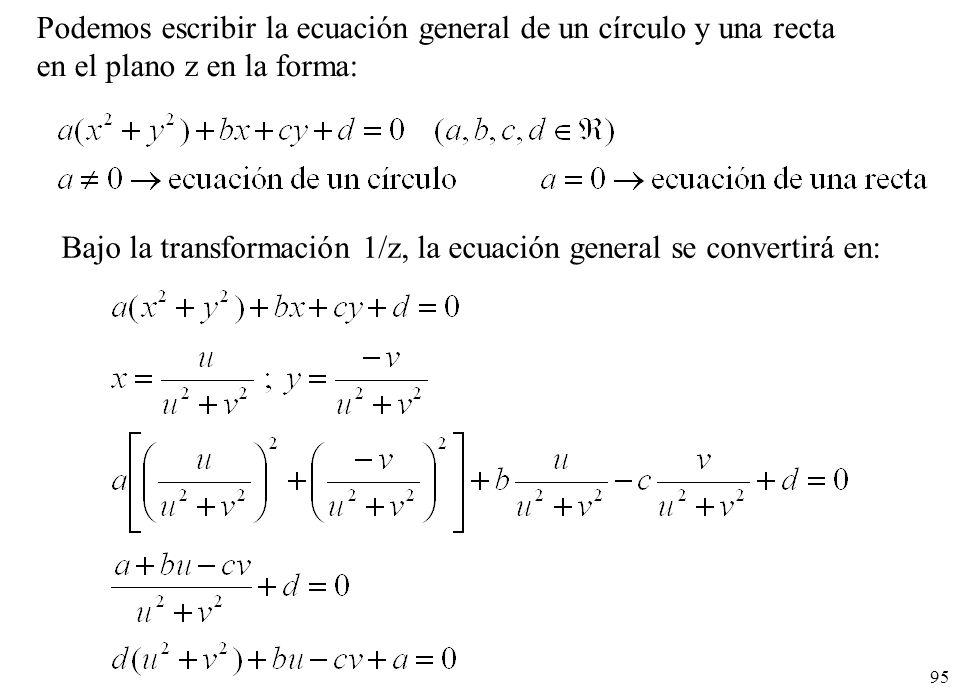 Podemos escribir la ecuación general de un círculo y una recta