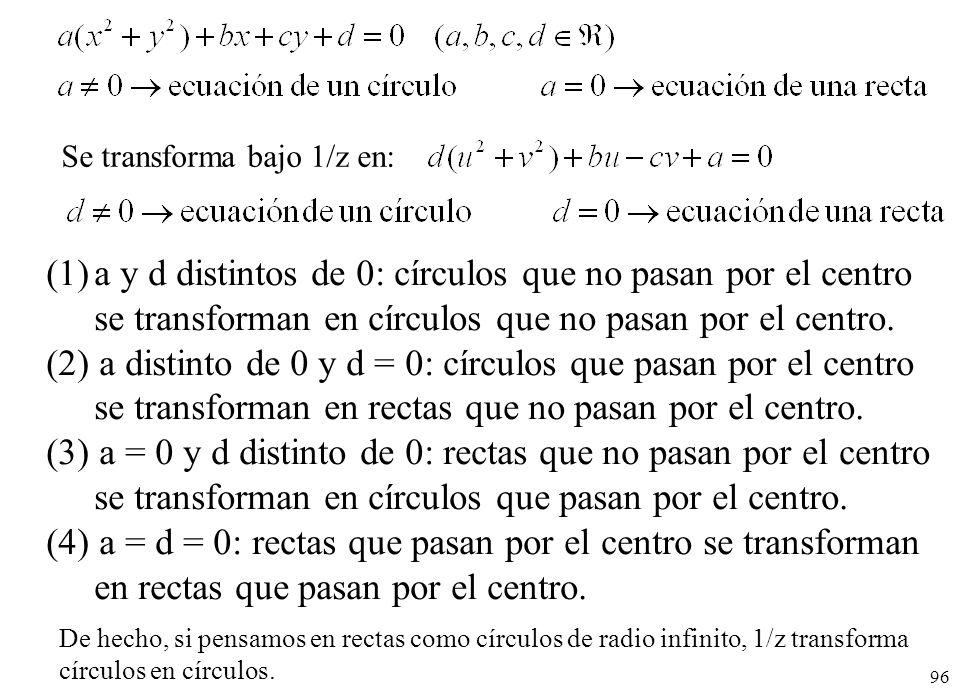 Se transforma bajo 1/z en: