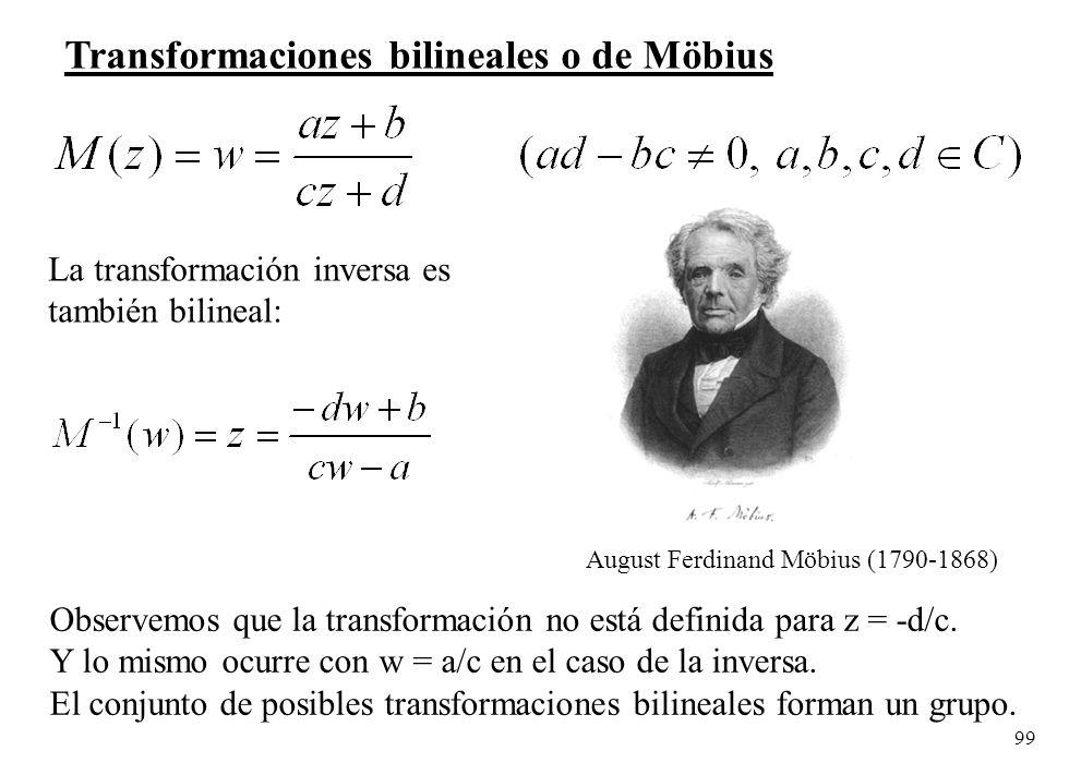 Transformaciones bilineales o de Möbius