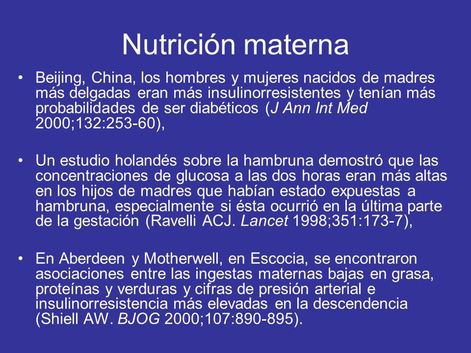 Nutrición materna