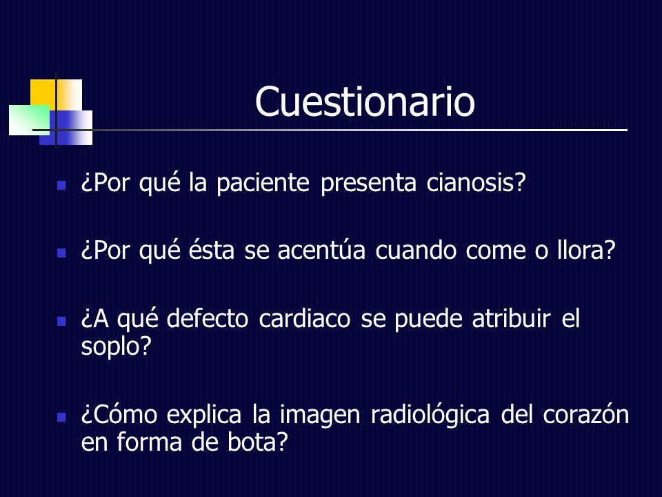 Cuestionario ¿Por qué la paciente presenta cianosis
