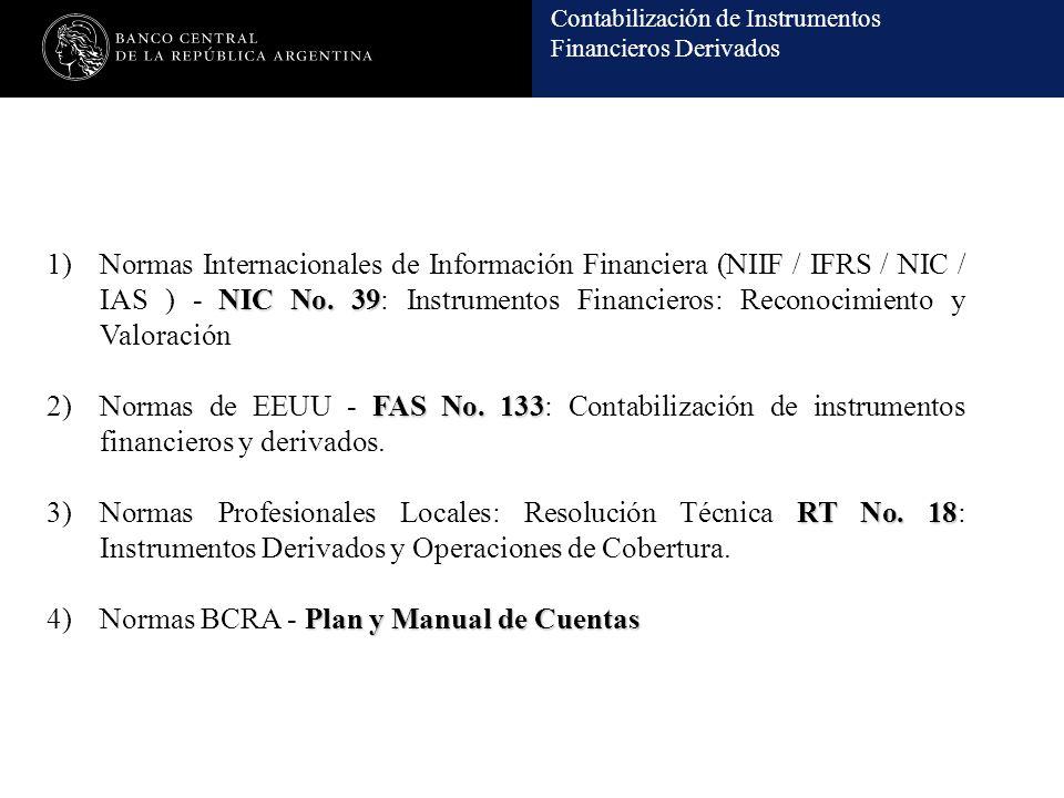Normas Internacionales de Información Financiera (NIIF / IFRS / NIC / IAS ) - NIC No. 39: Instrumentos Financieros: Reconocimiento y Valoración