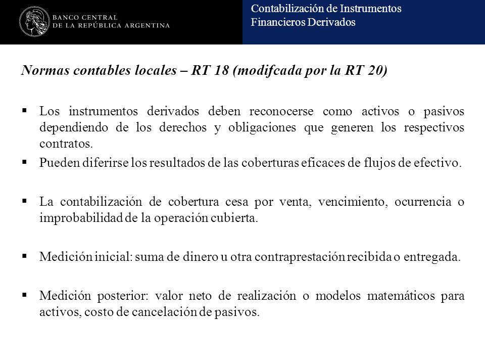 Normas contables locales – RT 18 (modifcada por la RT 20)