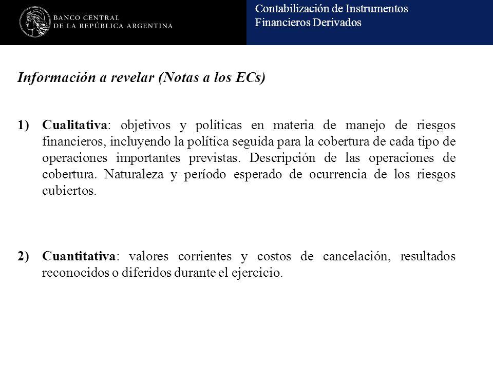 Información a revelar (Notas a los ECs)