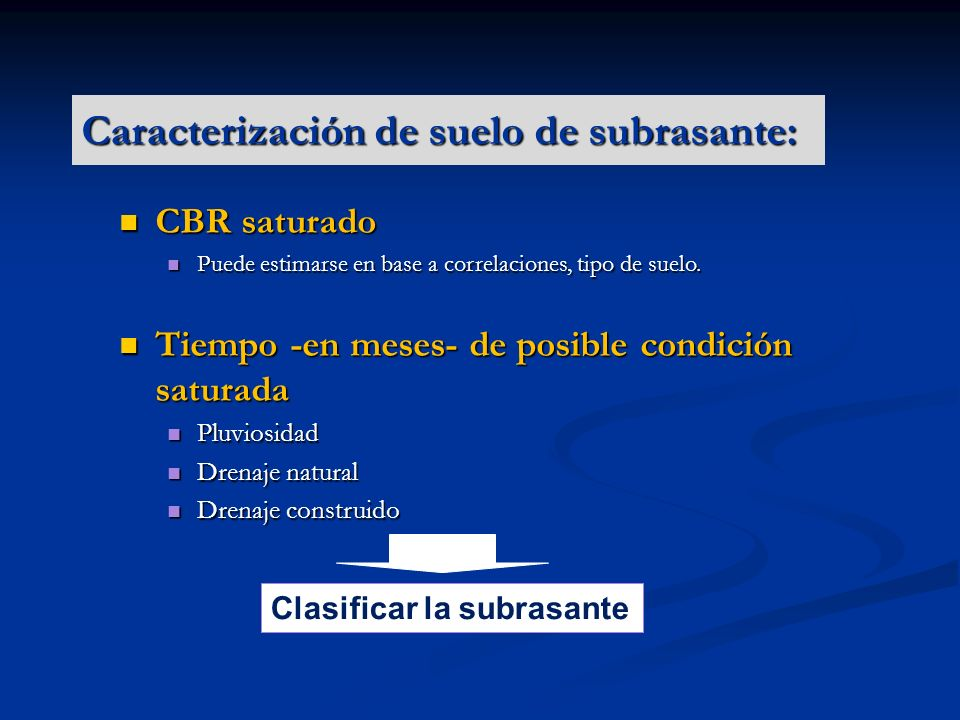 Caracterización de suelo de subrasante: